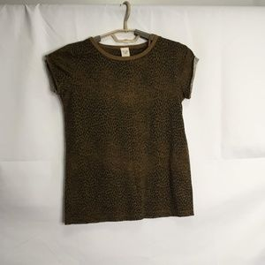 We The Free Leopard Print Short Sleeve Top Size XS